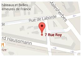 7 Rue Roy, 75008 Paris - Tél. : +33. (0)1 45 22 69 34